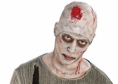 ZOMBIE BALD CAP HEADPIECE WIG Alien Mask Rubber Skin Brain Bald Head Prop - Rubber Alien Prop