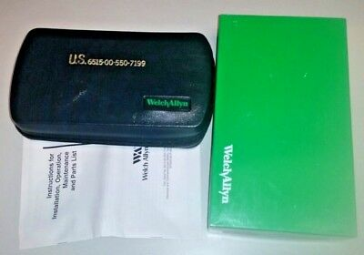 Welch Allyn Otoscope Ophthalmoscope Diagnostic Set Mil7199 98060