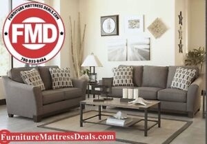 Brand new 2Pce set fabric sofa and love seat and cushions $1850