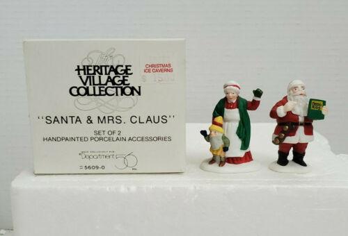 Department Dept 56 Heritage Village SANTA & MRS CLAUS Elf 55719 Box Christmas