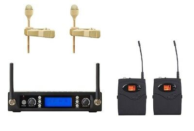 Best Wireless Lavalier Lapel Microphone For Church, UHF Tie Clip Wireless (Best Wireless Lavalier Microphone System)
