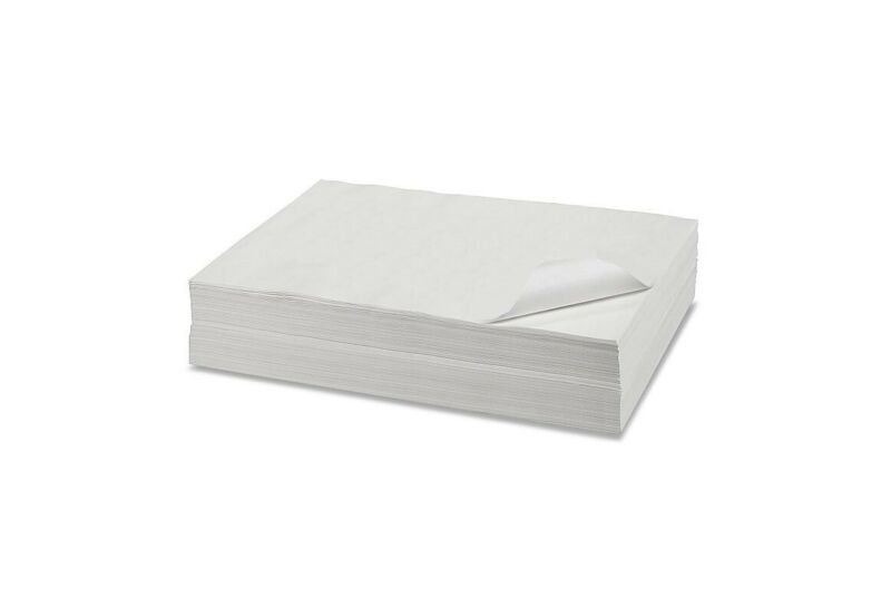 """6"""" x 12"""" Butcher Paper White Disposable Wrapping or Smoking Meat - 100 Sheets"""
