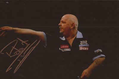 DARTS: ROBERT THORNTON 'THE THORN' SIGNED 6x4 ACTION PHOTO+COA