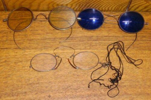 3 Antique Eyeglasses / Sunglasses