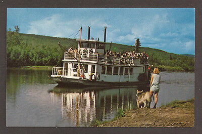 "POSTCARD:  RIVERBOAT ""DISCOVERY"" ON THE CHENA RIVER - FAIRBANKS, ALASKA - 1960s"