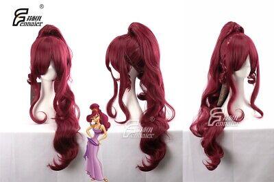 Hercules Megara Anime Costume Cosplay Wig 90cm Long +CAP](Megara Costume)