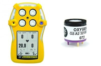 New O2-a2 Oxygen Sensor For Bw Technologies Gas Alert Quattro 0918