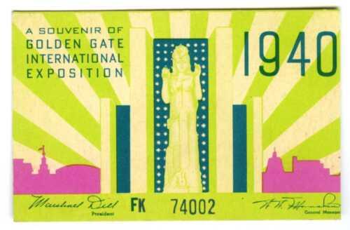 1940 GGIE SAN FRANCISCO GOLDEN GATE EXPOSITION SOUVENIR WORLD