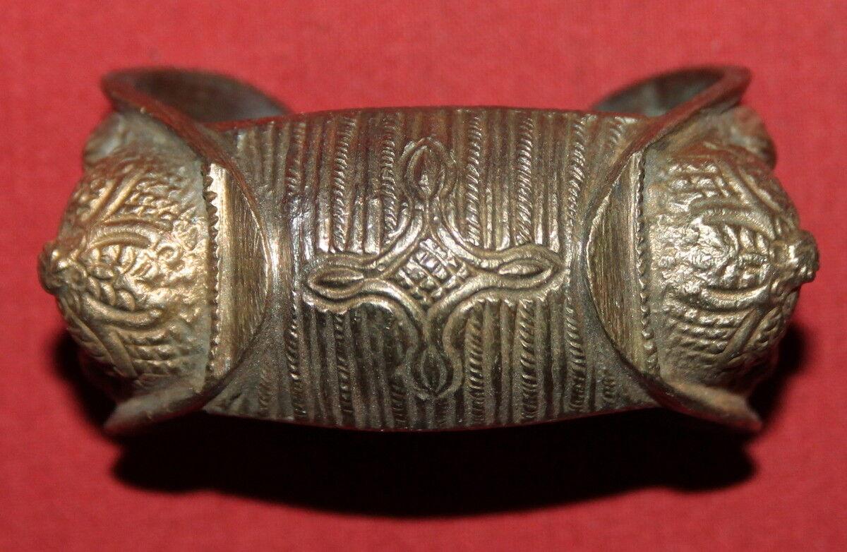 Antique Greek Orthodox Folk Medieval Crusader Brass Fertility Bracelet