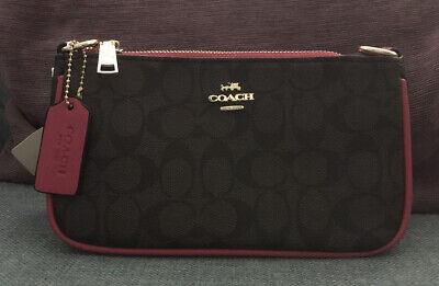Ladies Coach Small New Brown And Pink Shoulder Bag