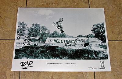 RAD 1986 Cru Jones HellTrack BMX bike movie photo art print poster 80's racing
