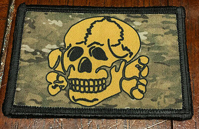 Totenkopf Skull Multicam Morale PatchTactical ARMY Hook Military USA Badge Flag