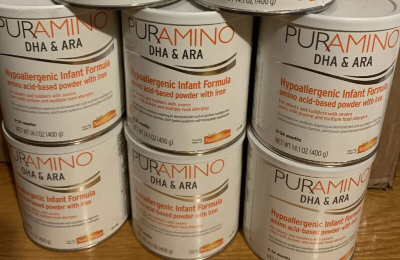 20 Cans Enfamil Puramino Infant DHA/ARA Hypoallergenic Formula FREE SHIPPING
