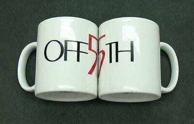 Rare Coffee Mug Set - OFF 5TH AVENUE - Advertising High Fashion Collectible