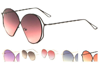 Wholesale 12 Pair Fashion Twist Arm Sunglasses with Oceanic Color Lens