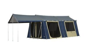 OZtrail 12x15 Canvas Cabin Tent with sunroom & floor