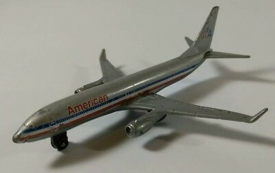 "MATTEL 2007 AMERICAN AIRLINES AA BOEING 737-800 DIECAST 4"" JET AIRPLANE - RARE!"
