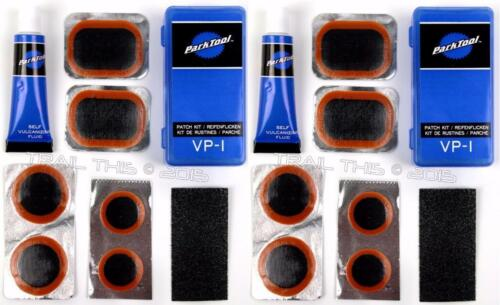 2 (Two) Pack of Park Tool VP-1 Bicycle Tube Vulcanizing Repair Patch Kits