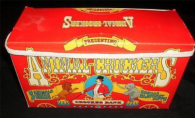 3 1981 ANIMAL CROCKER BANK STUFFED Toys Vintage Collectible Promotion Box Set