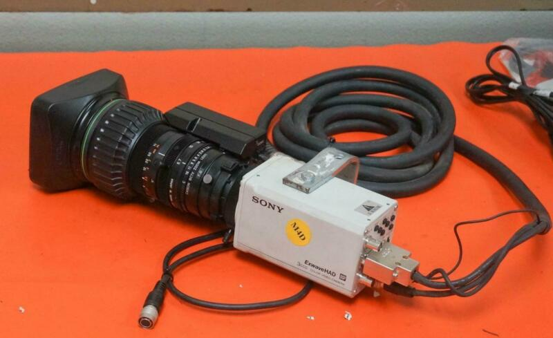 SONY EXWAVE HAD DSP 3CCD COLOR VIDEO CAMERA W/ CANON YH19 X 6.7 DTS SX 14 LENS 1