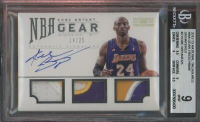 2012 National Treasures NBA Prime Kobe Bryant 19/25 Patch Mint BGS 9 10 Auto