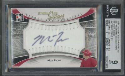 2011 ITG Heroes & Prospects Mike Trout White Thread 1/1 RC Mint BGS 9 10 Auto