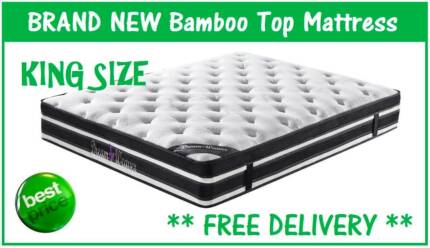 KING Size Bed Mattress BAMBOO with Pillow Top FREE DELIVERY