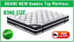 KING Size BAMBOO Top Mattress BRAND NEW and with FREE DELIVERY New Farm Brisbane North East Preview