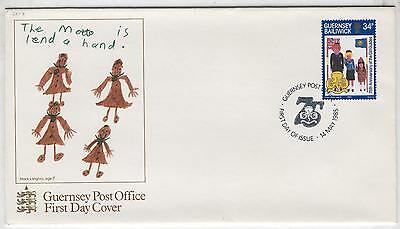 FDC AE67 Guernsey 1985 Children Drawings 1v