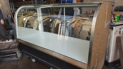6 Euro Bakery Display Case Dry Non-refrigerated Federal Ecgd-77 Curved Glass