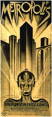 Metropolis Fritz Lang 1927 vintage style movie poster print #A5