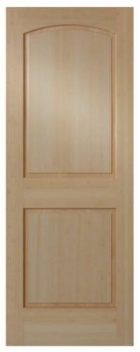 2 Panel Raised Arch Top Clear Maple Solid Core Stain Grade Interior Wood Doors