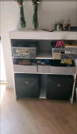 Bookcase,two shelves,white