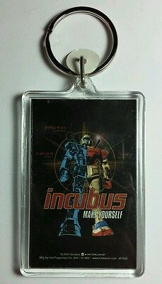 AS-IS INCUBUS MAKE YOURSELF ROBOT RED WHITE BLUE KEY CHAIN KEYCHAIN