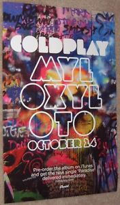 COLDPLAY poster Mylo Xyloto - COLDPLAY poster - 11 x 17 inches GRAFFITI style