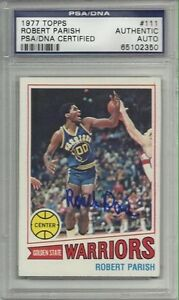 Robert Parish Autographed Rookie Card PSA/DNA Certified! Windsor Region Ontario image 1