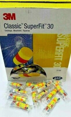 15 X E A R 3m Classic Superfit 30 Ear Plugs Hearing Protectors Ear Plugs
