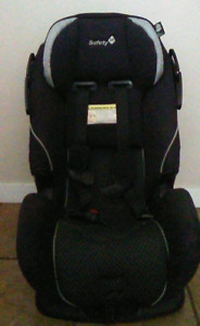 Safety first forward and rear facing carseat.