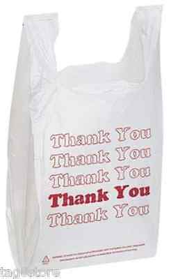 New 100 T-Shirt Carry Out Retail Store Plastic Bags Recyclable Grocery Shopping