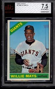 1966 Topps #1 Willie Mays BVG 7.5  NM+ San Francisco Giants HOF MVP Should be 8