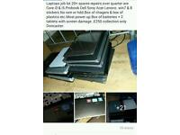 job lots of over 30 laptops core i3 i5 over 80 batteries over 30 chargers