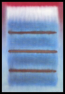 Hiroki Morinoue Ocean Poster Bild Kunstdruck mit Alu Rahmen in schwarz 100x70cm