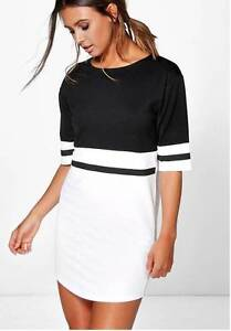 Boohoo Petite Black & White Dress - size 6 Murarrie Brisbane South East Preview