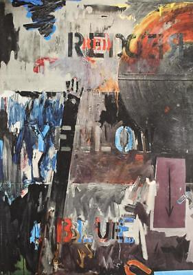 Mid Century Jasper Johns Neo Dada Lands End Abstract Original 1970 Litho #S43