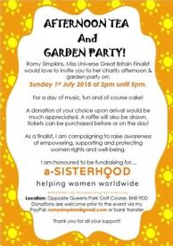 Charity Afternoon Tea & Garden Party