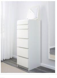 Ikea Malm dresser drawers - white