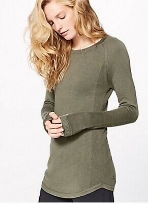 Lululemon Women's Sunshine Coast Knit Tunic Sweater in Fatigue Green Size 8