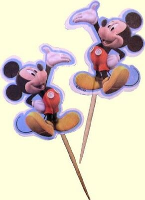 Disney Mickey Mouse Cupcake Toppers by Wilton, 24 Toppers per Package
