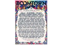 Boomtown festival weekend ticket 9th-12th August