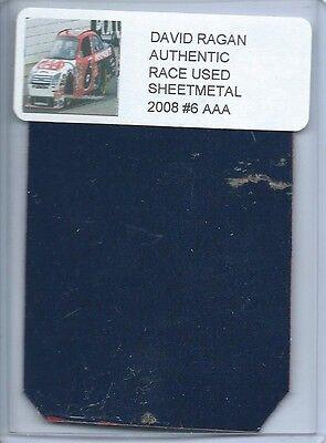 DAVID RAGAN 2008 #6 AAA FORD FUSION AUTHENTIC NASCAR RACE USED SHEETMETAL PIECE 6 Aaa Nascar Race